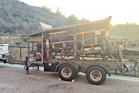 2015 GCI Trailer-Mounted Stone Slinger