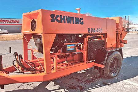 2006 Schwing BPA-450 Concrete Trailer Pump For Sale