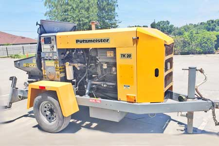 2012 Putzmeister TK-40E Electric Concrete Pump
