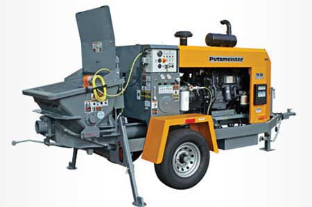 New Putzmeister TK-50 Concrete Trailer Pump