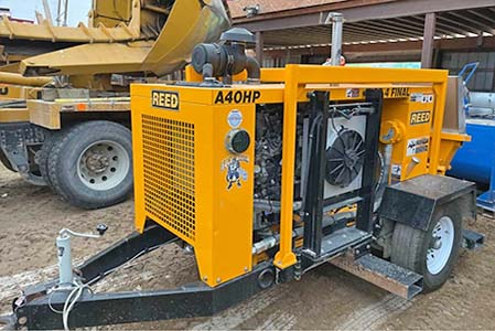 Reed Sidewinder Concrete Trailer Pump